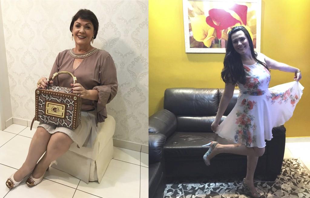 Renilda Ferreira Neves e a filha Priscila