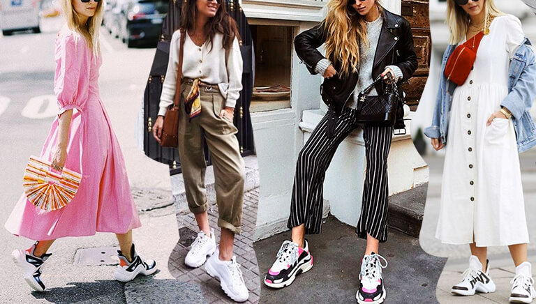 Chunky Sneakers dominam o street style