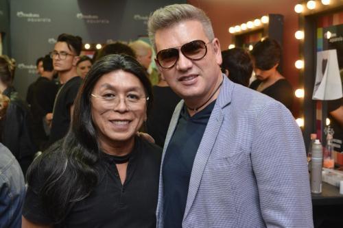 Celso Kamura e o designer Jorge Bischoff